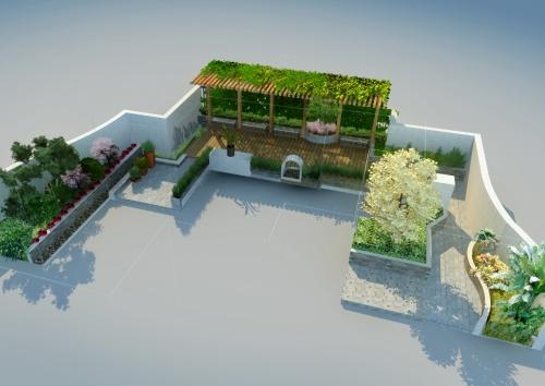 浙江都市豪庭屋顶花园