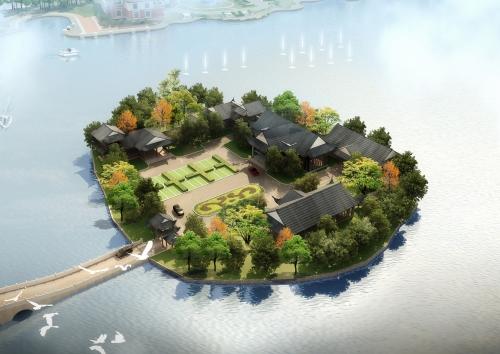 千鹤湖景观方案