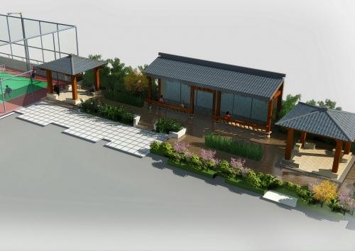 浙江福才社区屋顶花园方案